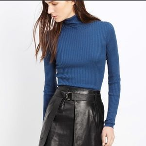Vince. Flawlessly chic 100% leather skater skirt.
